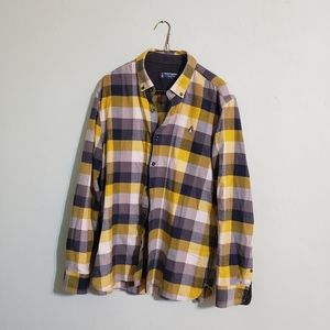 Hush Puppies checked flannel button size XL mens